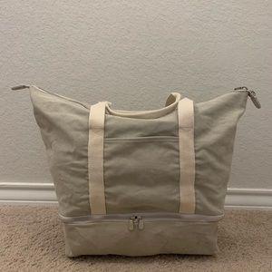 Lo & Sons Catalina Weekender Overnight Tote Bag Tan